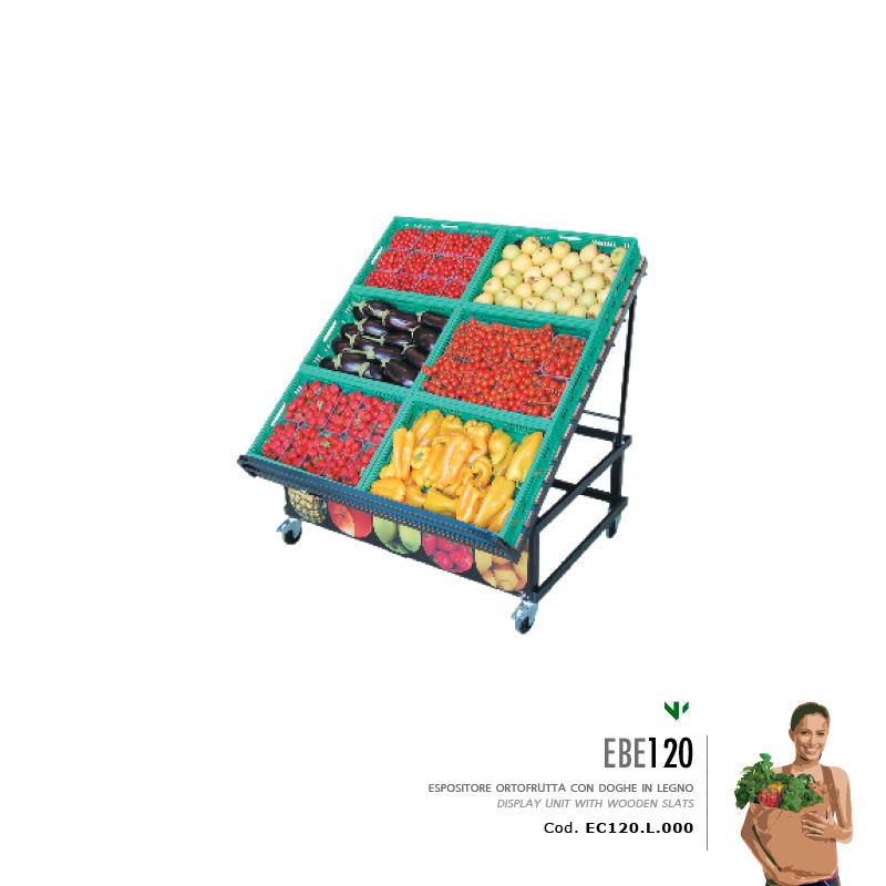 Espositore frutta e verdura ebe 120 for Arredamento ortofrutta in legno