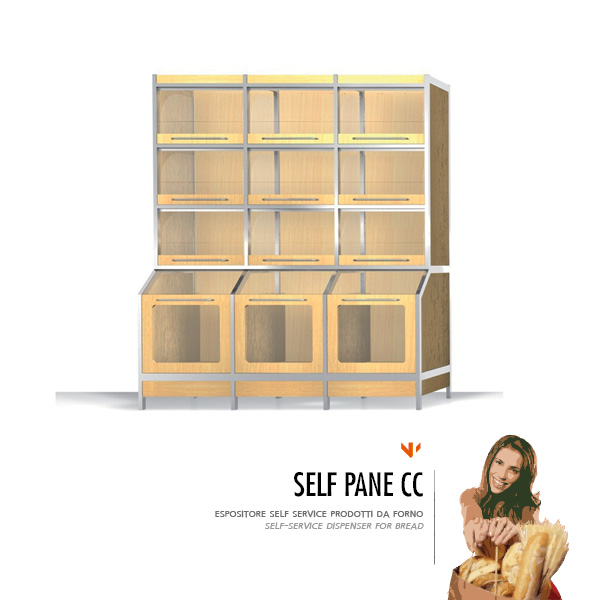 Espositore self service pane per pane fresco Self Pane cc