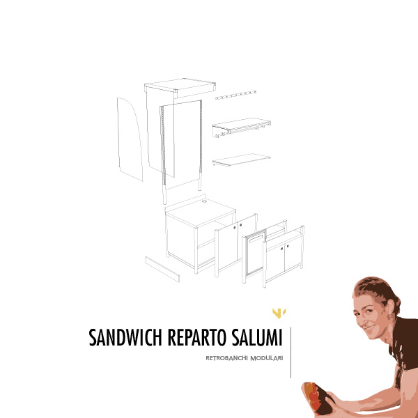 Retrobanco reparto salumi Sandwich