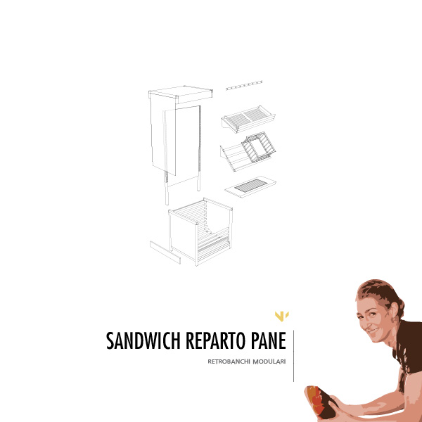 Retrobanco reparto pane - Sandwich