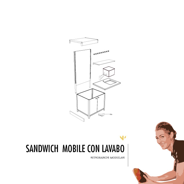 RETROBANCO MOBILE CON LAVABO - sandwich