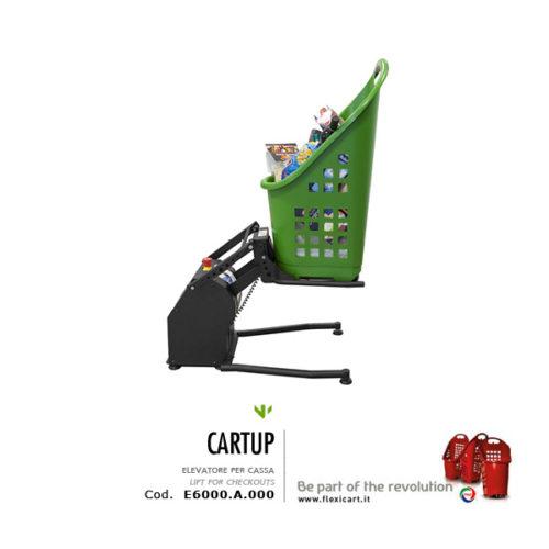 elevatore cesto spesa Cartup