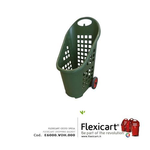 Cesto spesa Flexicart con ruote da esterno