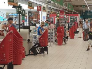 Shopping basket Lift checkout